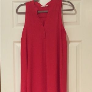 Lush Red Sleelveless Shift Dress